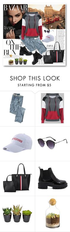 """""""Pocket Hoodie"""" by merylicious91 ❤ liked on Polyvore featuring Wrap, The French Bee, Cathy's Concepts and zaful"""