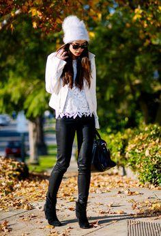 @roressclothes clothing ideas #women fashion white blazer, black trousers, heels, handbag