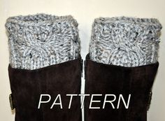 Boot Cuffs Socks Leg Warmers Boot Tops PDF PATTERN DIY Grey Marble Gray Cozy Forest Nature Knitt Cabled on Etsy, $4.99