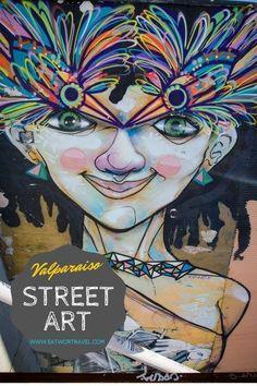 Virtual tour of street art in Valparaiso, Chile   http://www.eatworktravel.com
