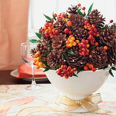 Pine cones are perfect for autumn and winter decor! You can even make bouquets out of them