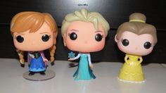 Anna and Elsa the sisters with Belle