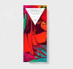 Really loving the retro marbled ink on this chocolate packaging. The wordmark is nice too.