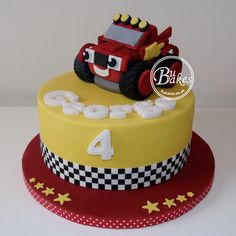 Blaze and the monster machines themed cake by bubakes.co.uk