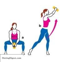 This really works...we have been doing this at Core Fitness and my pants now fit around my hips properly! The golf squat is a great move to trim and tone your waistline. Try this (and two others!) to get rid of that annoying muffin top. Check out Dieting Digest