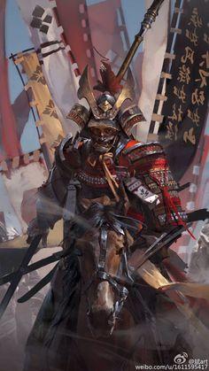 Warrior archetype – Samurai – Original character (illustration by 斌art) Ronin Samurai, Samurai Warrior, Woman Warrior, Japanese Culture, Japanese Art, Fantasy Warrior, Fantasy Art, Samourai Tattoo, Samurai Artwork