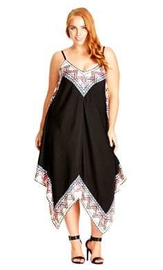 City Chic Festival Boarder Dress