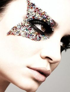 Jewel-studded eye embellishment-this would be awesome for me for a masquerade party since I have glasses :)