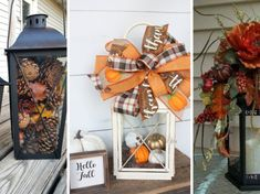 Žena sbírá lucerničky a tvoří z nich úžasnou dekoraci pro svůj dům: Inspirujte se i vy! Hello Autumn, Garden Projects, Wreaths, Halloween, Fall, Home Decor, Autumn, Decoration Home, Door Wreaths