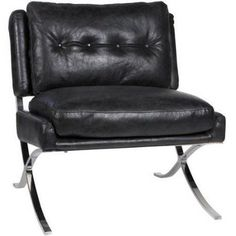 Capetown Occasional Chair, Antique Leather, Black