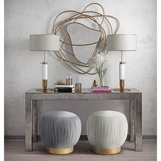 Add a punch of style to your room with some flower power. Available in luxurious velvet options, this ottoman pulls double duty as extra seating or a footstool. The Tulip ottoman will steal the spotlight in any room, so place her where you please! Decoration Hall, Entryway Decor, Table Decorations, Foyer, Modern Entryway, Entryway Tables, Living Room Furniture, Living Room Decor, White Room Decor
