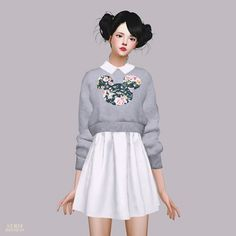 Knit Sweater One-Piece at Marigold via Sims 4 Updates