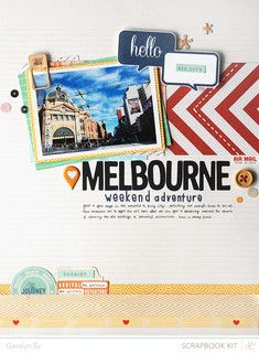 Melbourne by qingmei at Studio Calico