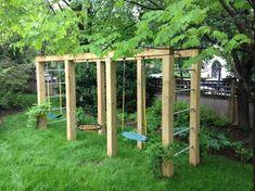 135 amazing backyard patio remodel ideas -page 10 Backyard Swing Sets, Diy Swing, Backyard For Kids, Wood Swing, Pergola Diy, Pergola Swing, Pergola Ideas, Modern Pergola, Pergola Designs