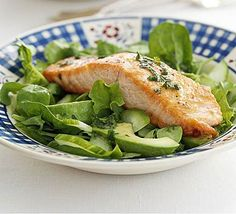 A salmon salad that is superhealthy, packed with omega 3 and vitamin c and versatile enough for any course