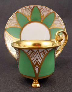 Distinctive Art Deco Rosenthal tea cup and saucer.