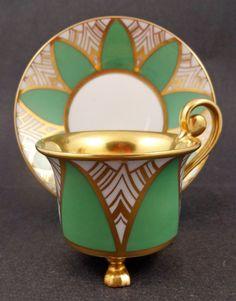 Distinctive Art Deco Rosenthal tea cup and saucer.