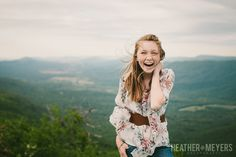 senior portrait on a mountain