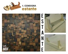 Presentación  Consigna nº1 Estante  Material:MDF ----------------- Los MDF