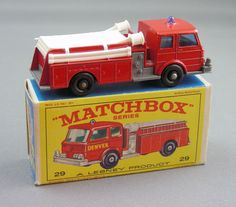 I liked the recreation of the coiled hose in the back. Toy Trucks, Fire Trucks, Antique Toys, Vintage Toys, Childhood Toys, Childhood Memories, Nostalgia, Corgi Toys, Matchbox Cars