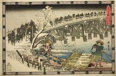 Utagawa Hiroshige  Japanese, 1797-1858, Scene 1 from Act XI of The Revenge of the Loyal Retainers