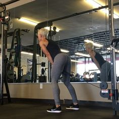 "Cable Pull-throughs aren't used nearly enough - you can incorporate them into your leg workouts to help you learn to squat and deadlift correctly. ✅ These help with squats and deadlifts because of the hip movement - it's the exact ""backward & forward"" hip movement you need to perfect in order to nail deadlifts and squats (and other exercises like the hip thruster, kneeling squats, etc) ✅ Feet about shoulder width and push the knees outward slightly ✅ Move your hips back to initiate the…"