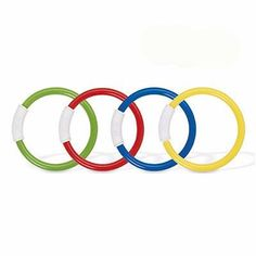 INTEX RECREATION Underwater Fun Ring Piece): 4 piece, underwater fun ring, 4 bright colors in 1 set, soft flexible material for safety, rings stand upright on pool bottom. Swimming Pool Exercises, Pool Workout, Cool Swimming Pools, Cool Pools, Swimming Diving, Play Pool, Pool Toys, Pool Fun, Toys