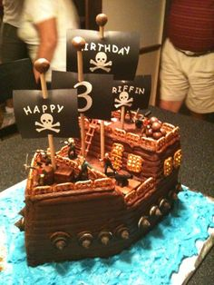 pirate birthday cake   Submitter's Comments: ( High Res Image )
