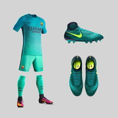 Another decent boot/kit combo featuring two fresh releases. Surely there'll be a few @fcbarcelona players rocking this look soon? . . . #footydotcom #fcfc #footy #footballboot #soccercleats #football #soccer #futbol #futbolsport #cleatstagram #totalsocceroffical #fussball #bestoffootball #rldesignz #footballboots #nike #nikefootball #nikesoccer #magista #obra #barcelona #barca #fcbarca #fcbarcelona #gradient #design #teal #floodlightspack