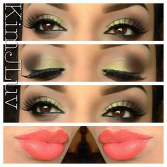 "Created this look using WetNWild's eyeshadow palette in ""Comfort Zone"" Lips are: WetNWild #970 - @Kim Jones"