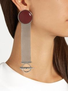 Balenciaga Mesh-chain drop earrings