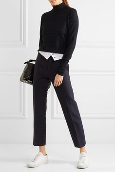 JOSEPH Yoyo pinstriped wool-blend crepe tapered pants  €595.00 https://www.net-a-porter.com/product/754981