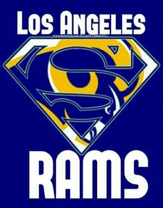Los Angeles Super-Rams! La Rams Football, Nfl Rams, Football Names, Football Art, Football Helmets, Ram Wallpaper, St Louis Rams, Football Conference, Nfl Logo