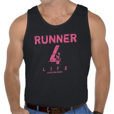 Runner 4 Life - Men's tanks, hoodies, and t-shirts. Customize the colors and text so it works best for you!