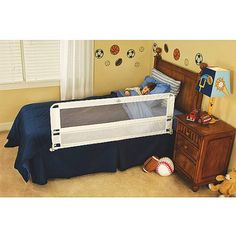 Regalo Hide Away 54-Inch Extra Long Safety Bed Rail, Features Rail that Slides Under Mattress, White