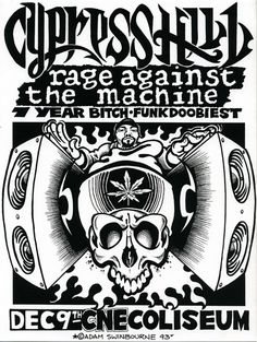 GigPosters.com - Cypress Hill - Rage Against The Machine - 7 Year Bitch - Funkdoobiest