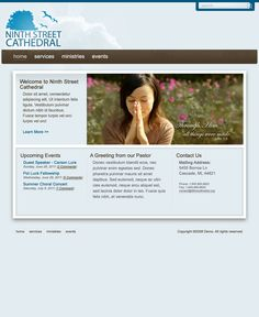 FREE Sky Blue Church Website Template by: testamentdesign.com