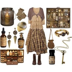 Keeper of Curiosities by maggiehemlock on Polyvore featuring polyvore, fashion, style, Miss Selfridge, Annarita N., AllSaints, Pamela Love, Rock 'N Rose and Aucocisco Naturals