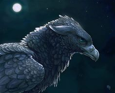 Gryphon Lunaire by Rhynn.deviantart.com on @deviantART