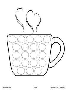 Hot Cocoa Do-A-Dot Coloring Page