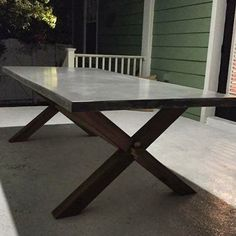 Custom Titanium Colored Gfrc Dining Table Top With A White