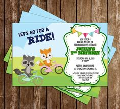 Novel Concept Designs - Bicycle - Bike Ride - Party - Invitation