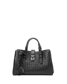Roma Leggero  Tote Bag, Black by Bottega Veneta at Neiman Marcus.