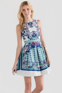 Petunia Printed Dress. Floral mirror print dress, perfect Easter dress outfit or bridal shower outfit. Under $50!