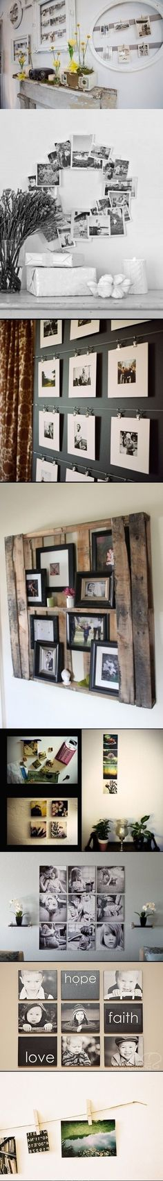 19 Incredible Ways to Display Photos: 12. Different Photos