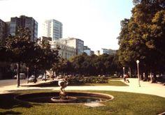 Jardins da Praia de Botafogo nos anos 70.