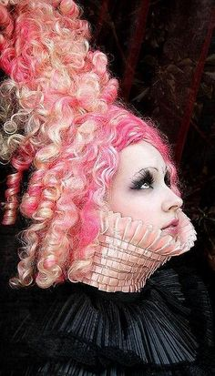 A tower of pink curls Pink Love, Pretty In Pink, Perfect Pink, Halloween Hair, Halloween Face Makeup, Burlesque, Pink Cadillac, We Are The World, Everything Pink