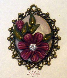 ciondolo con miniature floreali millefiori