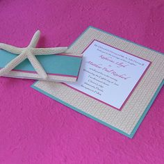 Pink and Turquoise beach wedding colors!