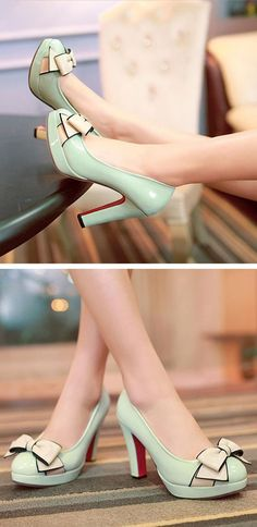 Teenage Fashion Blog: Mint bow heels